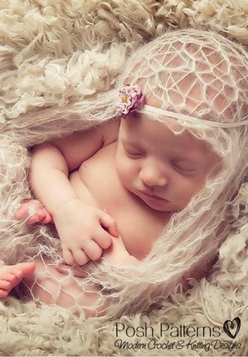 Lace Baby Blanket Free Knitting Pattern