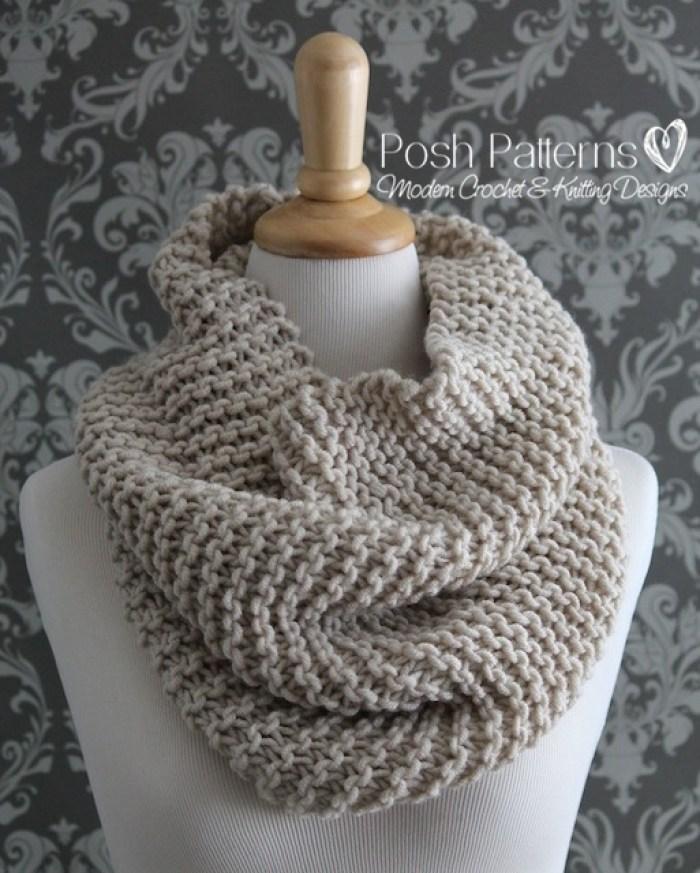 Beginner Knit Cowl Pattern