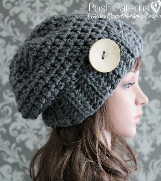 894de7d864b Elegant Slouchy Hat Crochet Pattern