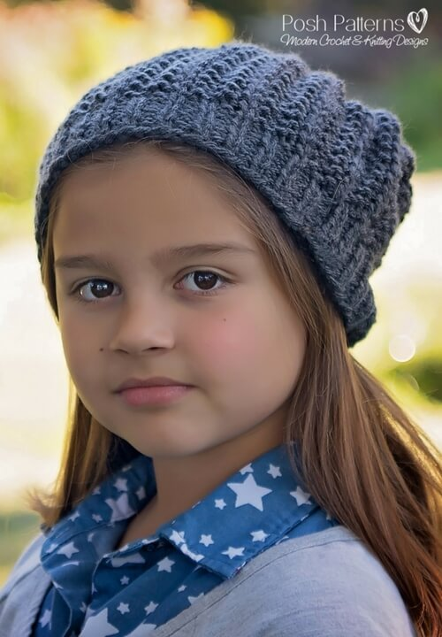 0469be30324 Slouchy Hat Free Knitting Pattern