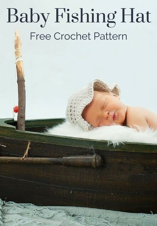 c4e8ee191 Baby Fishing Hat Free Crochet Pattern