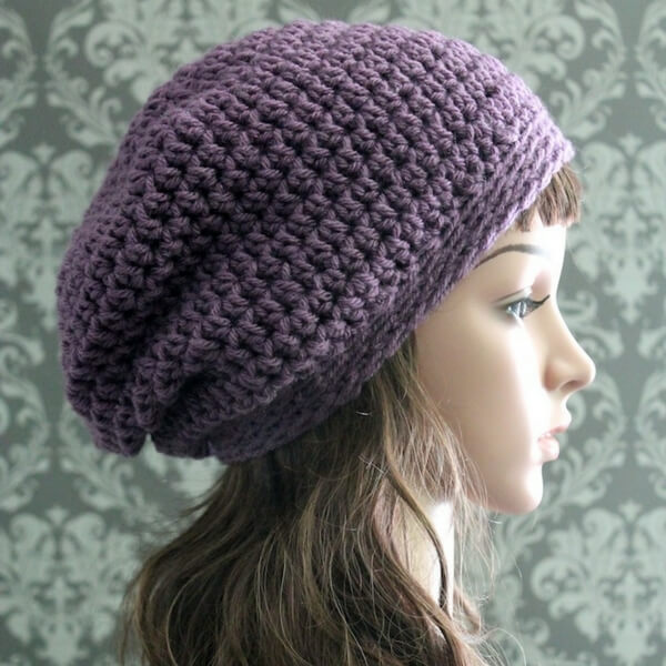d06a8268f0d Just added to my blog is this elegant free crochet slouchy hat pattern!  It s perfect for anyone and makes an awesome beginner crochet pattern if  you re just ...