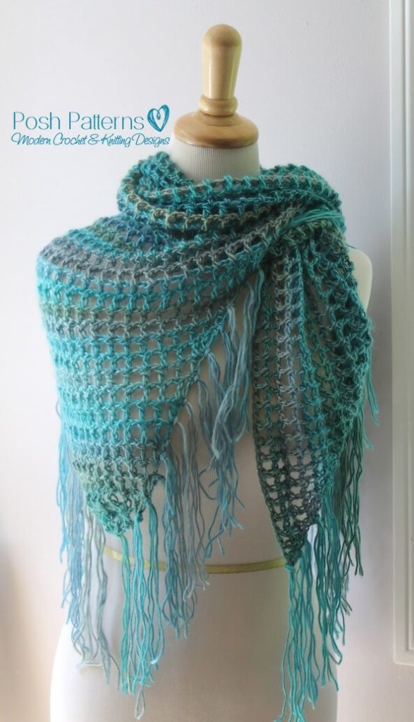 Easy Crochet Shawl Pattern Posh Patterns