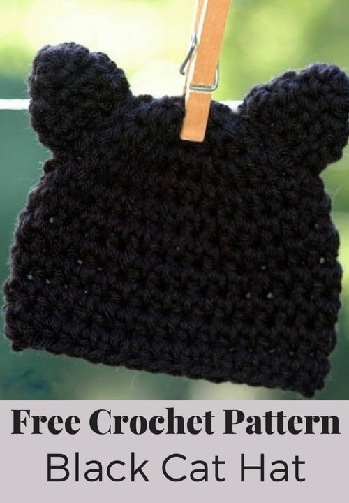 Kitty Cat Hat Crochet Pattern
