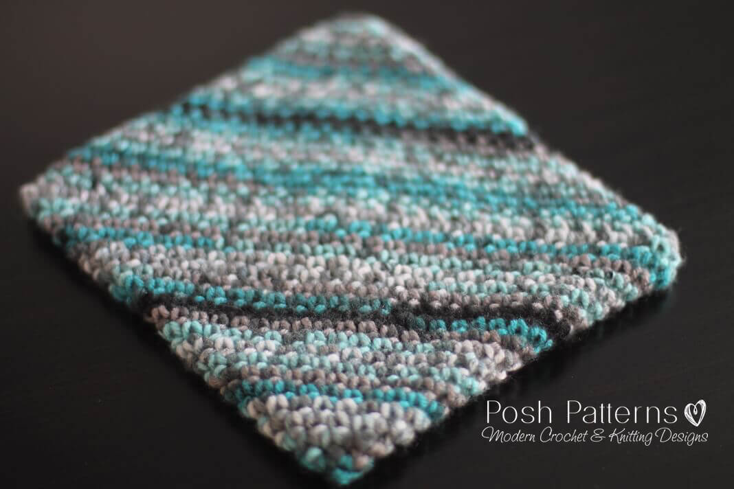 graphic regarding Free Printable Crochet Patterns named Double Thick Crochet Potholder Routine
