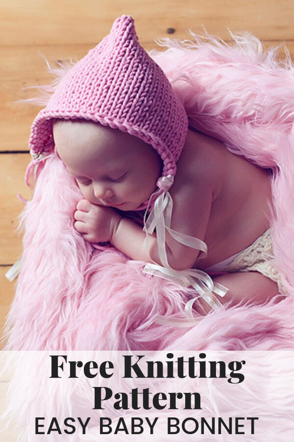 1da2c791ba3 Easy Baby Bonnet Knitting Pattern
