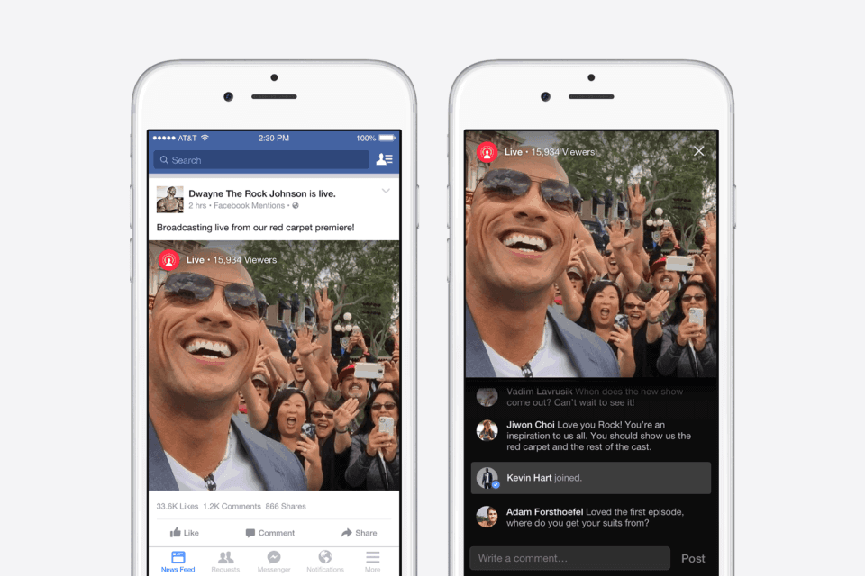 Facebook nueva forma de compartir videos Live
