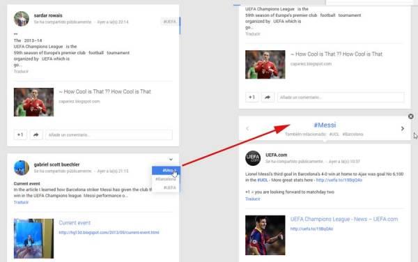 hastags en google+ relacionados