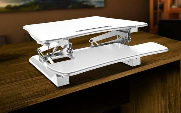 posidesk POSI203 medium executive sit stand desk white 3