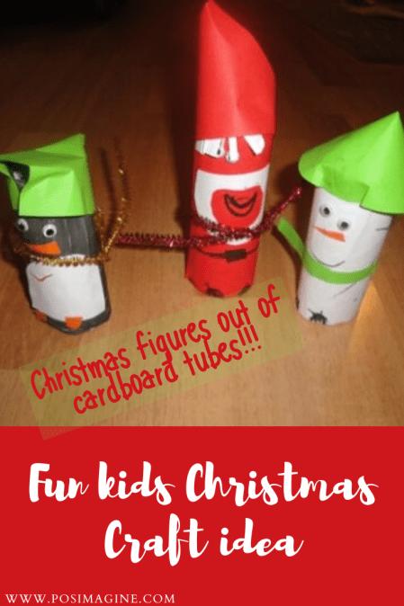 kids christmas craft cardboard tubes rolls