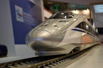 An amazing model of one of the fastest trains of China