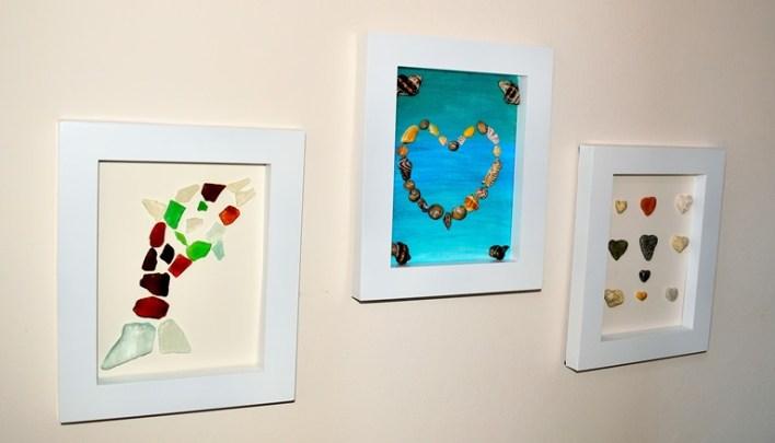 beach craft ideas framed sea treasures
