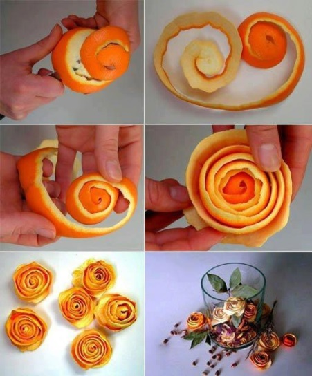 How to make orange peel roses