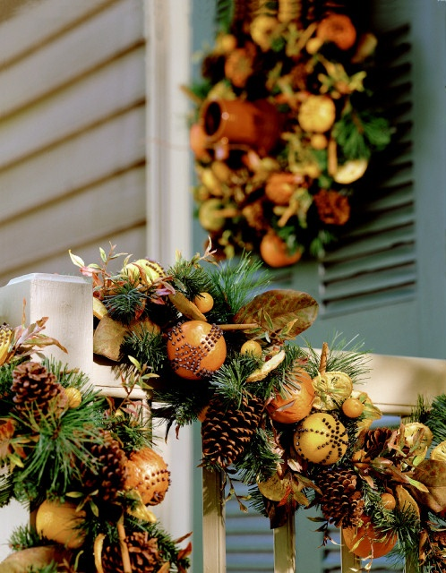 christmas garland and wreath