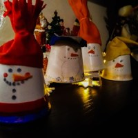Easy and Cute DIY Christmas Ornaments: Snowman ornaments out of paper cups