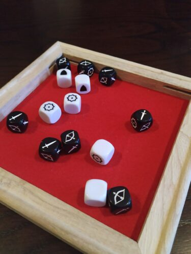 DIY dice rolling tray board games