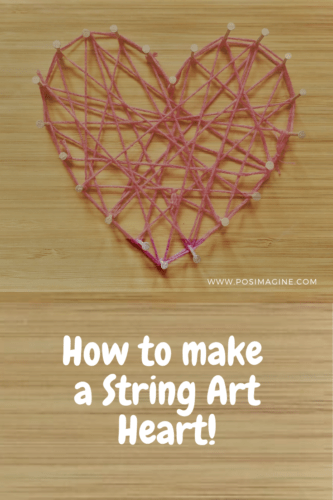 Simple String Art Ideas: Lovely Heart