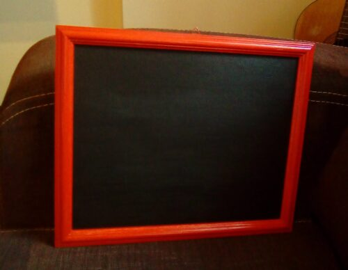 DIY photo prop chalkboard sign is ready for action!