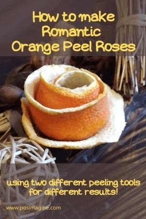 Orange Peel Rose: a Romantic Dried Fruit Decoration Idea