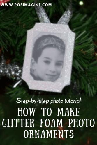 DIY Glitter Foam Christmas Ornaments with photos
