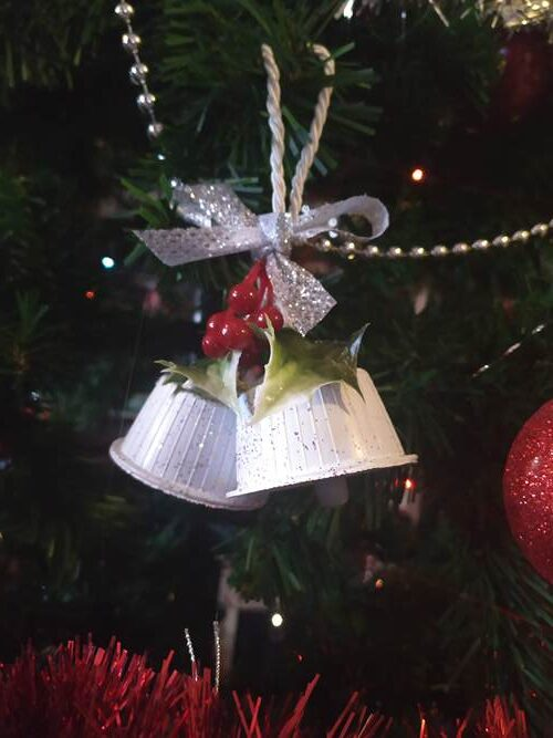 diy christmas bell ornaments white