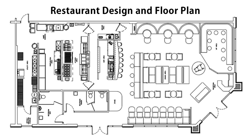 Floor plans efficient kitchen design