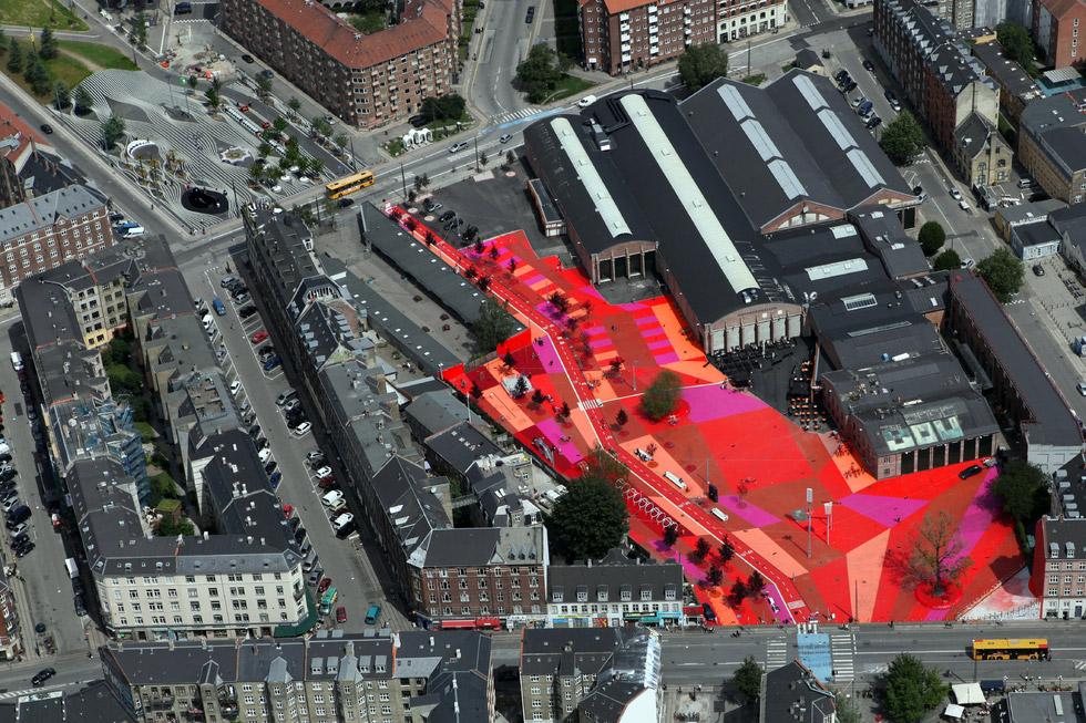 Superkilen, Copenhagen, Denmark; BIG Bjarke Ingels Group; Topotek1; Superflex