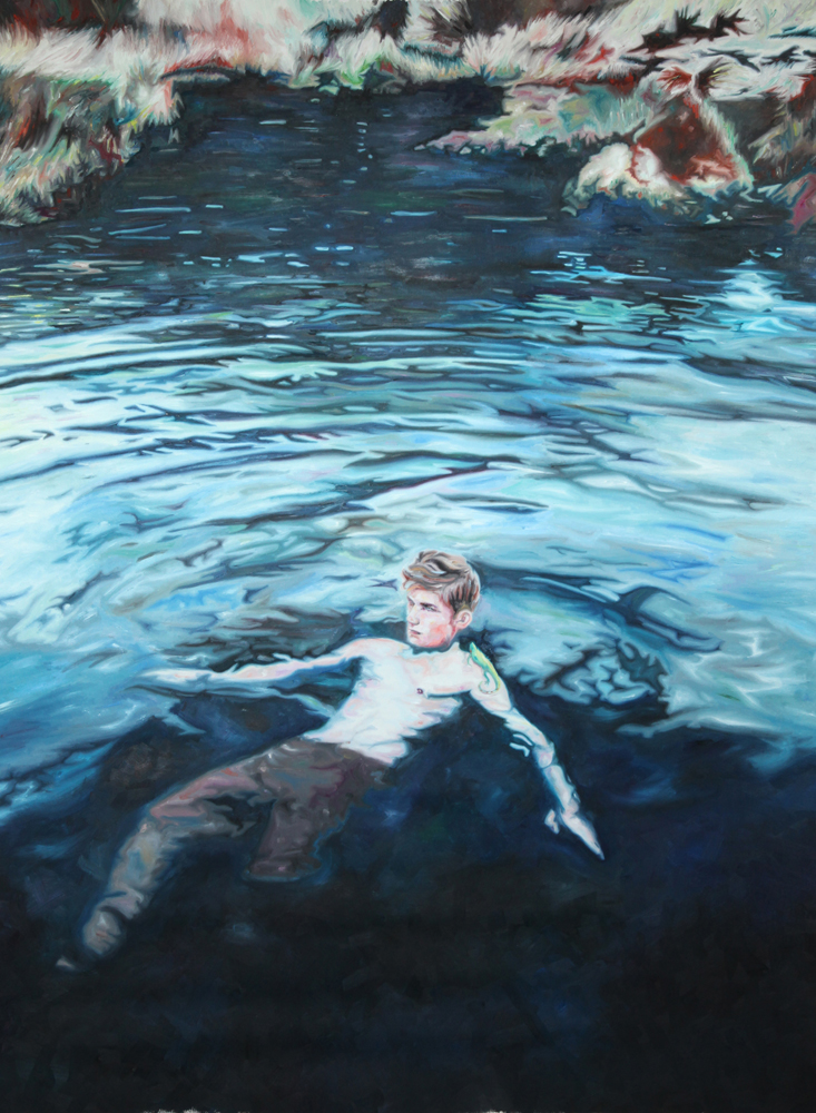 Swimming, oil on canvas, 170x130 cm, 2011