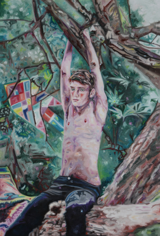 The boy with the bleeding heart, oil on canvas, 117x82 cm, 2012