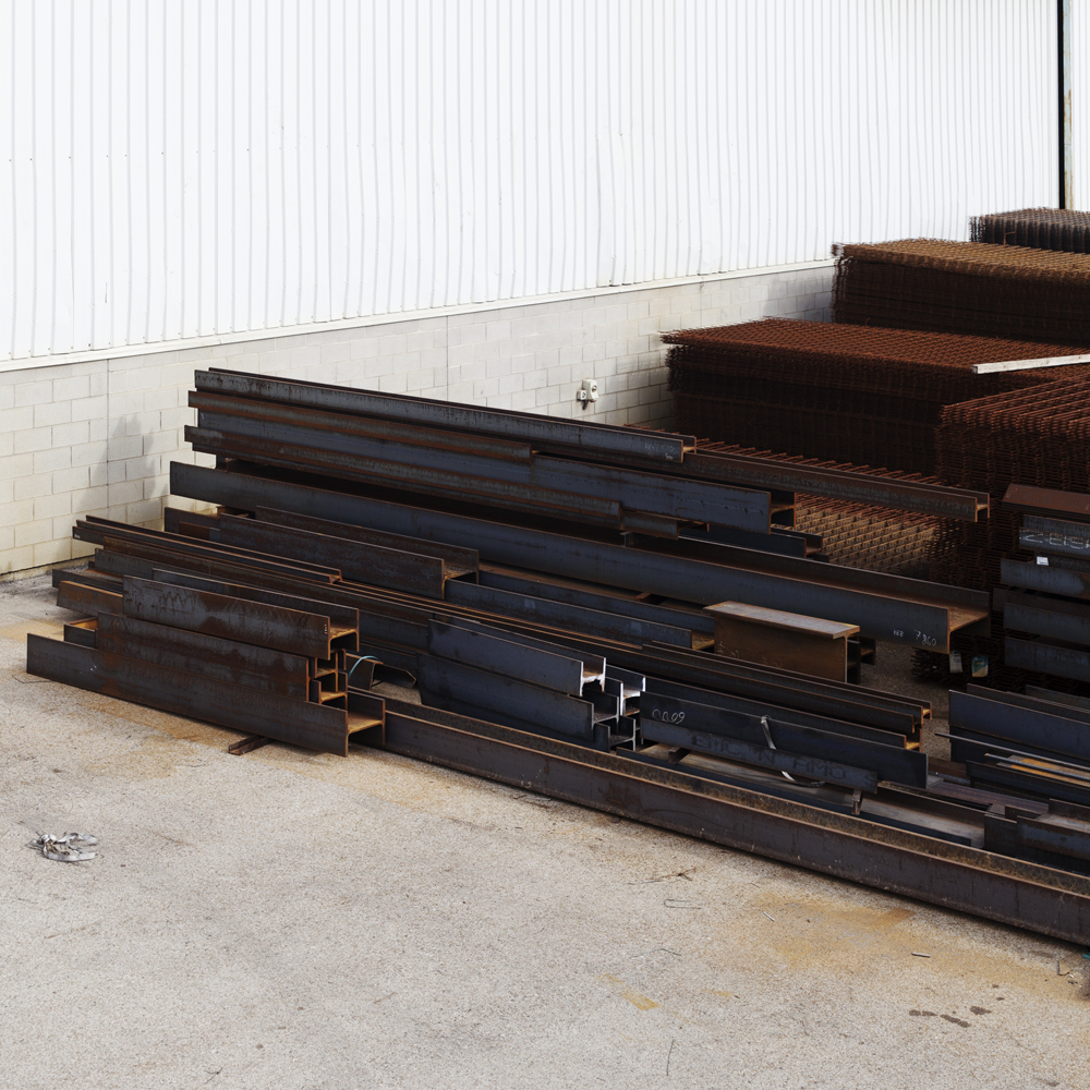 Beams and other construction metals