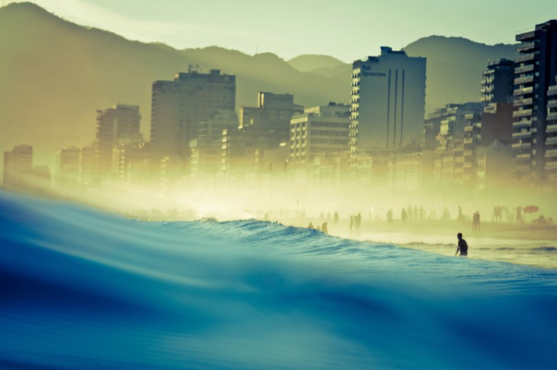 People enjoy water on the famous beach of Ipanema, Rio de Janeiro, BRAZIL of Ipanema, Rio de Janeiro, BRAZIL