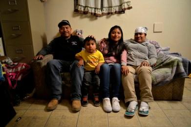Mixteco family in Oxnard, CA