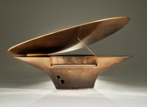 Piano, Contemporary Art, Goldfinch, Based Upon, bespoke, luxury, metal, spiral patterns