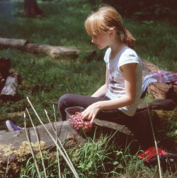 Natalia Varauka eats grapes and watches the camp fire at the Narbeth Forest School in Pembrokeshire, U.K. The children's favourite food is fruit and vegetables. The children will spend up to a month with host families around the Pembrokeshire area of the U.K. An astonishing 85 per cent of Belarusian children are deemed to be Chernobyl victims: they carry Ògenetic markersÓ that could affect their health at any time and can be passed on to the next generation. A vicious cycle that unfortunately could continue for hundreds if not thousands of years. From the series 'The Healing Land'