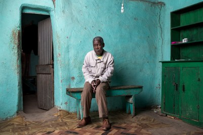 Monde Mxesibe is 62 years old. He worked in the mines for 26 years and developed pulmonary TB. He received no compensation.