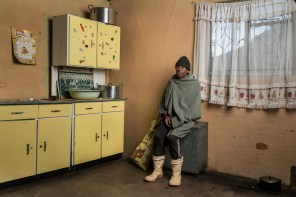Toulang Mako is 65 years old. He worked in the gold mines for 21 years. He has silicosis and received no compensation.