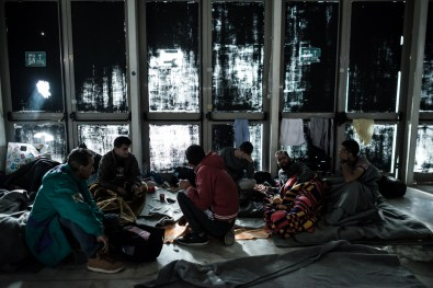Immigrants from countries other than Syria and Afghanistan, that were not allowed to continue their trip towards central European countries, have found temporally shelter at Tae Kwon Do stadium, in Faliron, Athens.