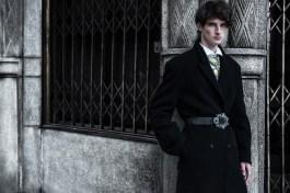 shirt Valentino, coat Prada, embroidered necklace, belt Nataly Uhryn