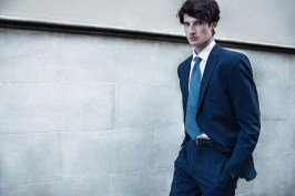 suit Roy Robson, shirt Valentino, belt belongs to a model, tie Chanel