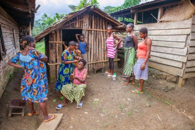 Many girls in the village drop out of school early, having sexual relationships with young boys, and getting pregnant before the age of 18. The elders of the village say that was not happening at their times, but more of the last decade, due to civilization and modern times. Bakumba, Cameroon. 2014