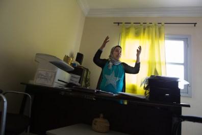 """Halima Oulami, the director of the center """"El Amane pour le femme et l'enfant."""""""