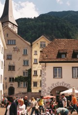 Town square in Chur
