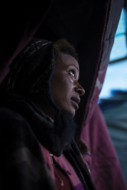 Calais, North of France, 10 November 2015. Filomena, 20, originally from Eritrea. Her situation results unclear. Although her family moved to Greece when she was a kid, she might have lived there illegally ever since. Aiming to reach the UK alone, she eventually ended up in the Jungle refugee camp.