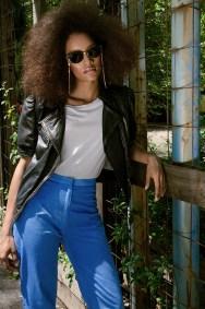 Jacket Baldini, T-shirt Splendid, pants Ksenia Grinchisgina, glasses Ray Ban