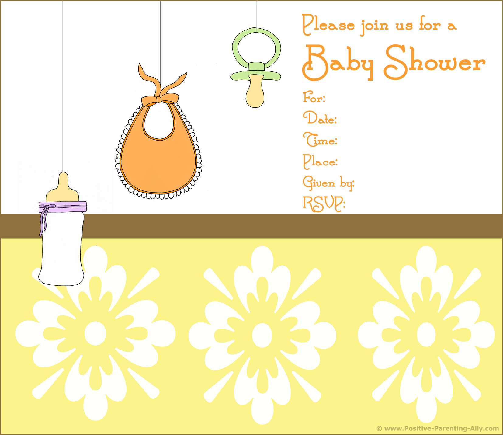 Free Printable Baby Shower Invitations In High Quality