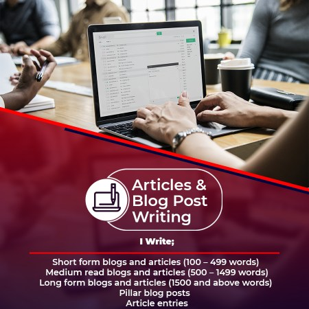 QUALITY ARTICLES & BLOG POSTS WRITING SERVICES