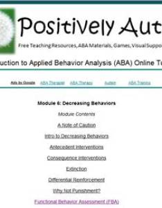 Positively autism   tutorial on reducing problem behavior also free teaching materials rh positivelyautism