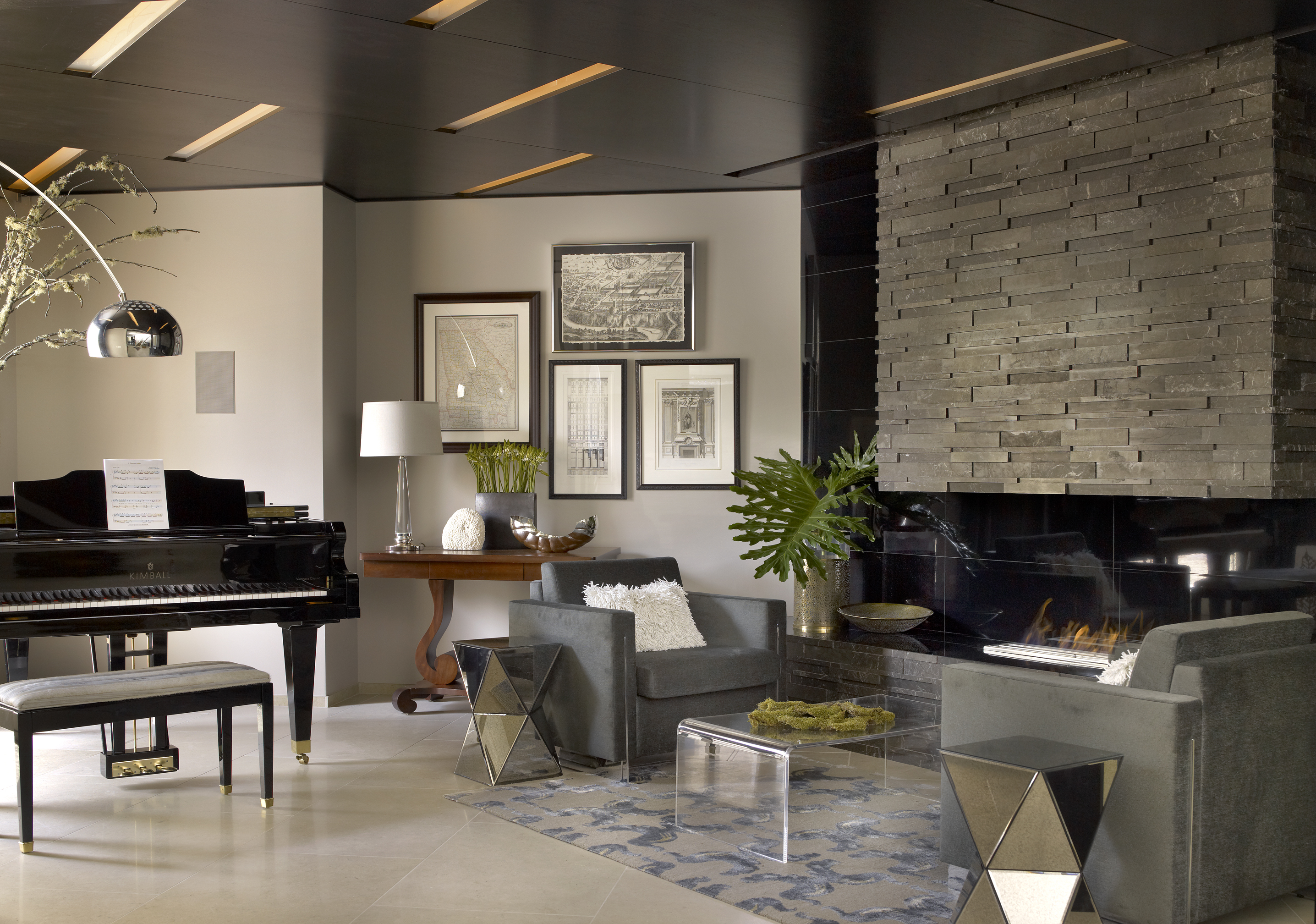 Local architect s home redesign is featured on cover of for Piano room decor