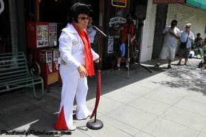 Elvis Impersonator Street Artist