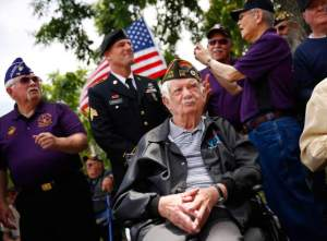 Petaluma Memorial Day Ceremony, Photo By Press Democrat